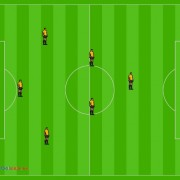 Soccer 7, 1-3-2-1 Football Formation