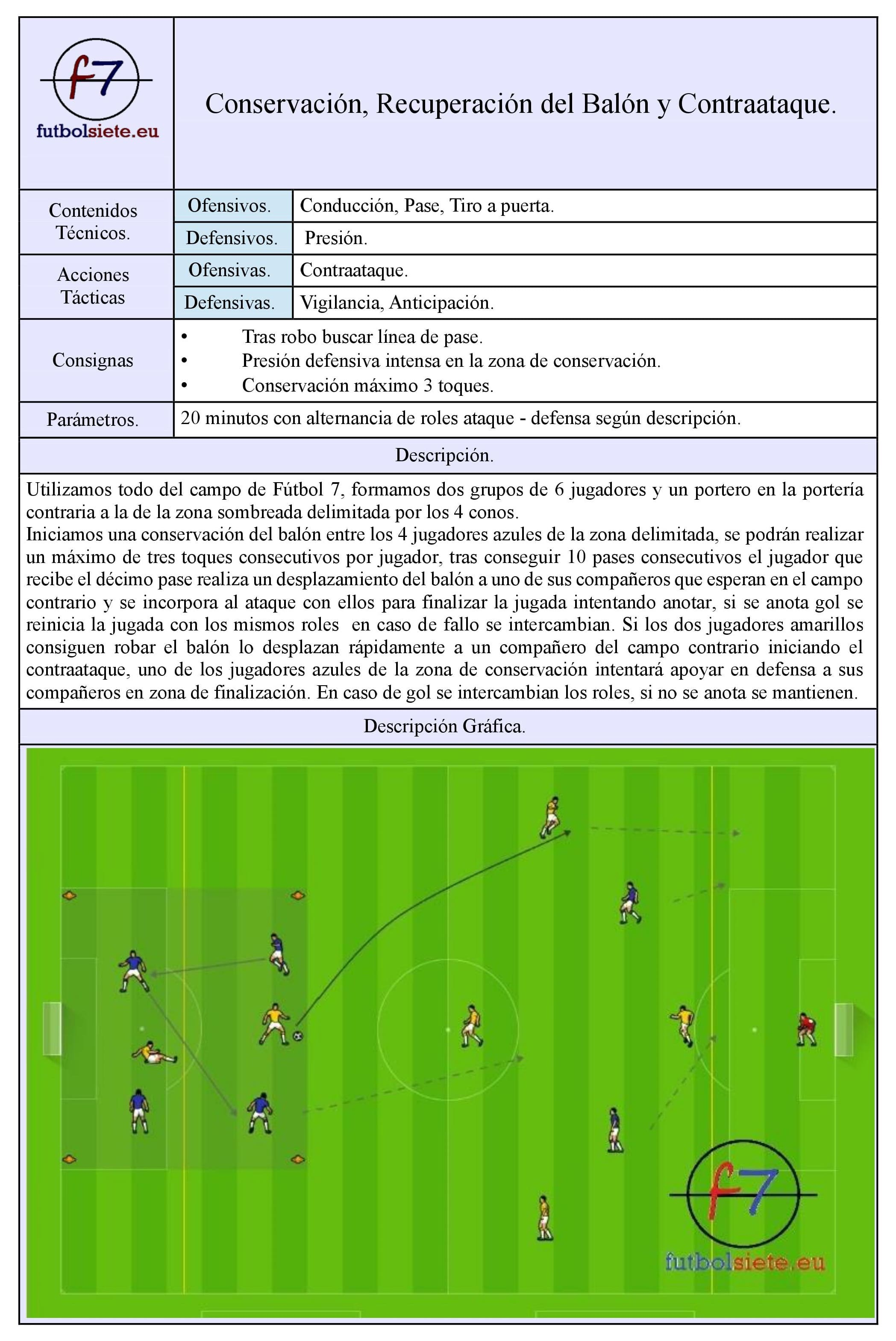 Ficha Ejercicio 6 vs 6 Conservacion, robo y contraataque