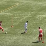 Ejercicio entrenamiento de Fútbol, Pases en Triangulación con dos Balones