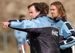 Sesion de entrenamiento de Marcelo Bielsa al frente de la selección Argentina