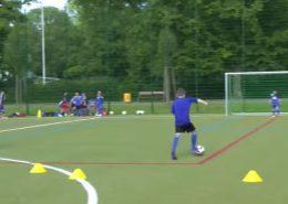 Ejercicios Futbol Alevines 1vs1 con finalizacion