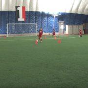 Soccer drills dribling and driving