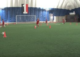 Soccer drills dribling and driving
