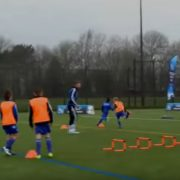 Soccer drills, speed and losing your marker drill