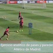 Ejercicio analítico de pases y paredes Atletico de Madrid